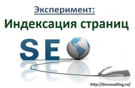Эксперимент по индексации страниц сайтов