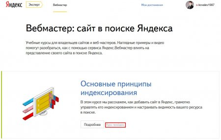 Работа с Яндекс.Вебмастер
